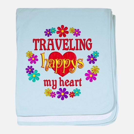 Traveling Happy baby blanket