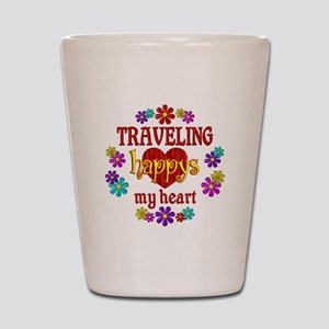 Traveling Happy Shot Glass
