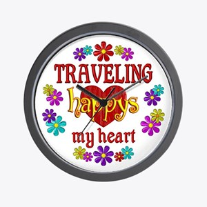 Traveling Happy Wall Clock