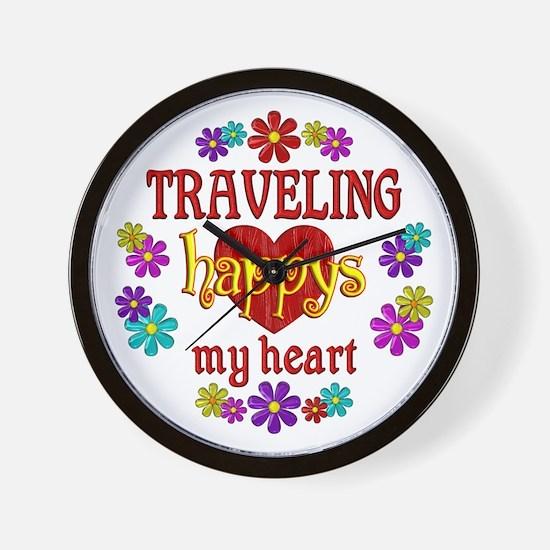 Traveling Happy Wall Clock