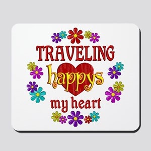 Traveling Happy Mousepad