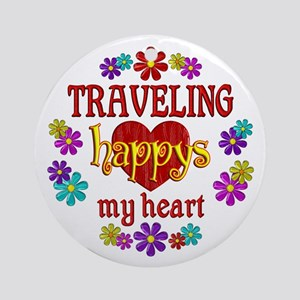Traveling Happy Ornament (Round)