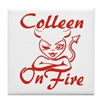 Colleen On Fire Tile Coaster
