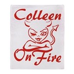 Colleen On Fire Throw Blanket