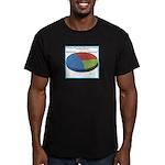 Pointless Chart Men's Fitted T-Shirt (dark)