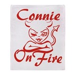 Connie On Fire Throw Blanket