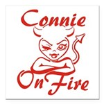 Connie On Fire Square Car Magnet 3