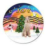 XMusic2-Spinone (w) Round Car Magnet
