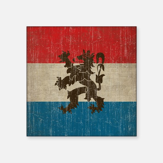 "Vintage Netherlands Square Sticker 3"" x 3"""