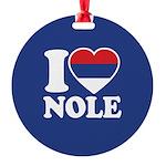 Nole Serbia Round Ornament