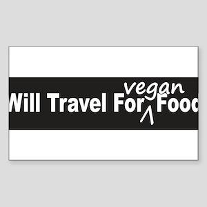 Will Travel For Vegan Food Bumper Sticker Sticker
