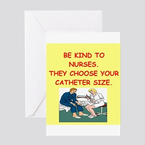 nurse joke Greeting Card