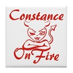 Constance On Fire Tile Coaster