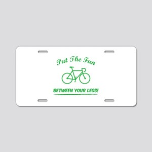 Put the fun between your legs! Aluminum License Pl