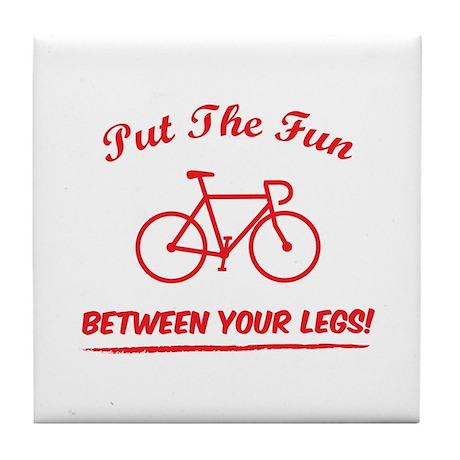 Put the fun between your legs! Tile Coaster