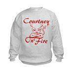 Courtney On Fire Kids Sweatshirt