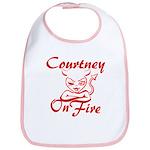 Courtney On Fire Bib
