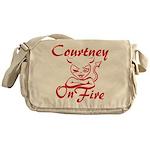 Courtney On Fire Messenger Bag