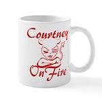 Courtney On Fire Mug