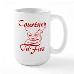 Courtney On Fire Large Mug