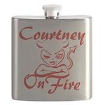 Courtney On Fire Flask