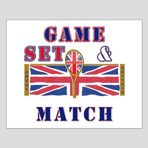 great britain tennis game set match Small Poster