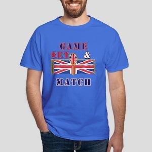 great britain tennis game set match Dark T-Shirt
