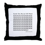OCD Attack Throw Pillow
