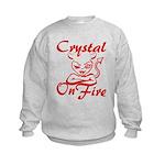 Crystal On Fire Kids Sweatshirt