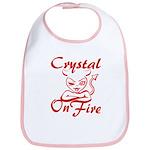 Crystal On Fire Bib