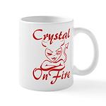 Crystal On Fire Mug