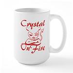 Crystal On Fire Large Mug