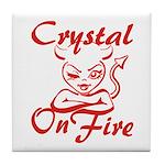 Crystal On Fire Tile Coaster