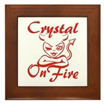 Crystal On Fire Framed Tile