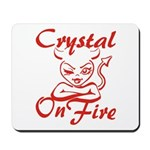 Crystal On Fire Mousepad