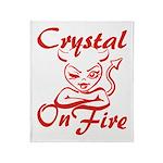 Crystal On Fire Throw Blanket