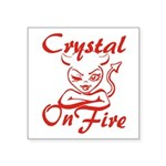 Crystal On Fire Square Sticker 3