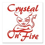 Crystal On Fire Square Car Magnet 3