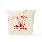 Cynthia On Fire Tote Bag