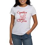 Cynthia On Fire Women's T-Shirt