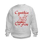 Cynthia On Fire Kids Sweatshirt