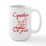 Cynthia On Fire Large Mug