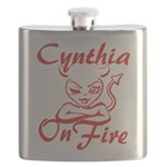 Cynthia On Fire Flask