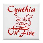 Cynthia On Fire Tile Coaster