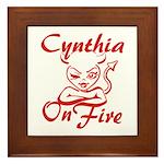 Cynthia On Fire Framed Tile