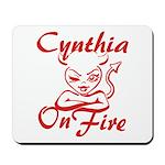 Cynthia On Fire Mousepad
