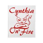 Cynthia On Fire Throw Blanket
