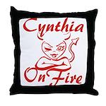 Cynthia On Fire Throw Pillow