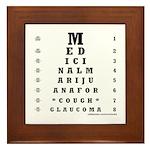 Eye Chart Framed Tile