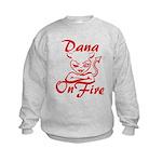 Dana On Fire Kids Sweatshirt